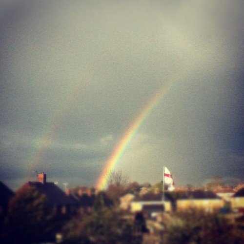 #rainbow #weather #twin #two #landscape (Taken with instagram)