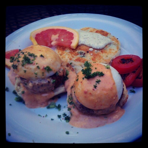 Crab Benedict  (Taken with instagram)