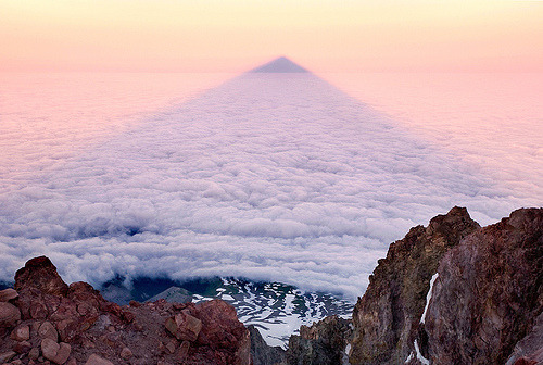 definitelydope:  THE MOUNTAIN SHADOW — Mount Hood, OR (by Light of the Wild)
