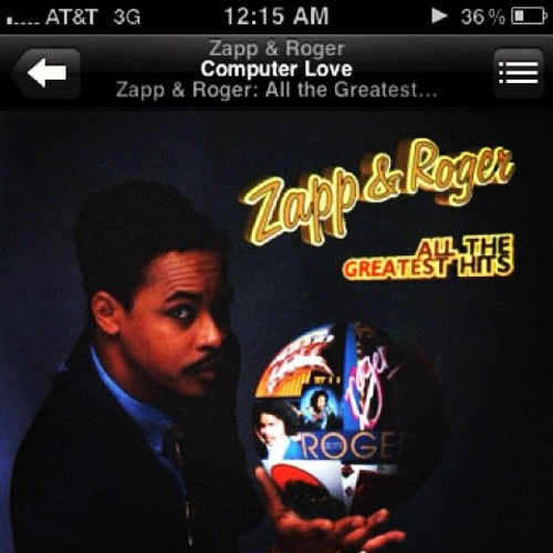 #Zapp&Roger #ComputerLove #myJam #OldSchool  (Taken with Instagram at Kev's House)
