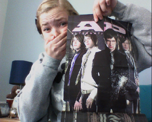 THIS MONTHS ISSUE OF AP HAS A POSTER OF MY BABIES ITS SO OLD THEY ALL LOOK LIKE LESBIANS AND BRENT IS IN IT XKJHFK