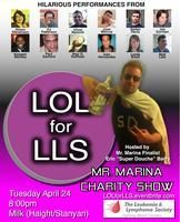 4/24. LOL for LLS @ Milk Bar. 1840 Haight St. SF. Free (donations). 8PM. Featuring OJ Patterson, Vince Mancini, Leslie Small, Kaseem Bentley, Josh Marcus, Paul Sanford, Matt Lieb, Alex Q. Huffman, Alison Stevenson, Ivan Hernandez, Joe Gorman, and Stefan Davis. Hosted by Eric Barry. Advanced Donations: Here.  Prepare to laugh your collars into permanent pop-dom, as San Francisco comics hit the stage for LOL for LLS, a fundraiser for the Leukemia Lymphoma Society as part of the 2012 Mr. Marina Competition. 12 of San Francisco's funniest young comedians will come together April 24, along with host and Mr. Marina finalist Eric Barry for a night of hilarious standup comedy. All proceeds from the event will go towards Eric's fundraising efforts, one of the criterion upon which the Mr. Marina finalists are judged. Mr. Marina is a fundraising competition poking fun at the stereotypes of San Francisco's Marina District, while raising money for LLS. The Leukemia & Lymphoma Society helps blood cancer patients live better, longer lives through cancer research and community programs.   Hosted by Eric Barry The event will be held at Milk on Haight/Stanyan. 10% of all bar proceeds will also benefit Eric's fundraising campaign. Comedian Stefan Davis will also be donating 50% of sales from his comedy CD at the event. All donations (including ticket purchases) are tax-deductible.  The event is free, but we strongly encourage you to show your support for blood cancer research by purchasing a paying ticket or making an in-person donation at the event.