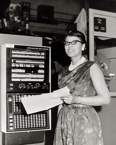 "vintageblackglamour:  Melba Roy, NASA Mathmetician, 1964. I don't know much about orbital element timetables, but I love that the computations of a gracious lady in pearls helped produce them (by which millions saw the satellite from Earth as it passed overhead). Ms. Roy headed a group of NASA mathmeticians known as ""computers"" who tracked the Echo satellites in 1964. Photo: NASA/Corbis  If she's a computer, that's a mechanical abacus."