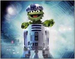 Oscar the grouch - actually played R2D2, true story.