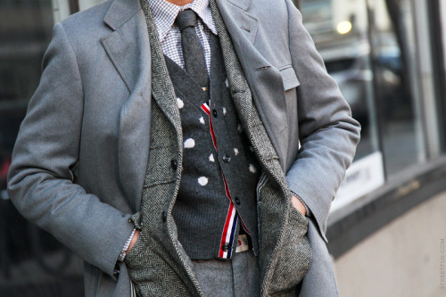 urbanemenswear:  A Thom Browne suit in New York City