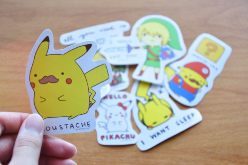 pikarar:  I started making stickers today :DDD They'll be available soon *U* What other kind of stickers do you guys want?