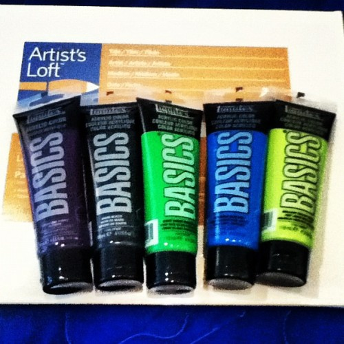 New art supplies. You jelly? #art #paint #painting  (Taken with instagram)