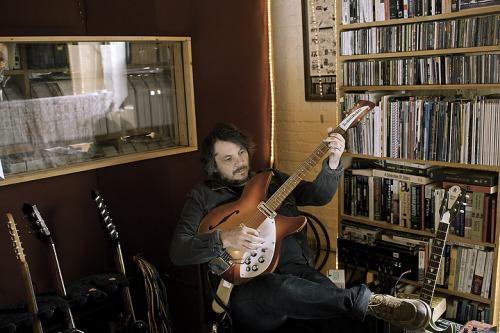 "ordinarypictures:  Archives: 2011 - Jeff Tweedy, lead singer of Wilco at his recording space in the Wilco Loft, right before ""The Whole Love"" was released - for NYLON Guys   Photo by my good friend Peter Hoffman Grooming by my beautiful wife, Elisa Vekkos-Lojkutz"