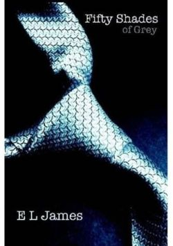 Fifty Shades of Grey, EL James (F, 30s, navy boat shoes, white sweater, on the first crisp page, Union Square) http://bit.ly/I6yaXC