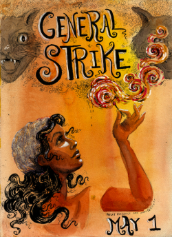 Free art from Molly Crabapple What is it? Free art prints from the archives of Molly Crabapple, an NYC artist who has contributed enormous amounts to several Occupy projects, including the iconic MayDay General Strike poster above.  Her new series, The Shell Game, is a year-long, crowdsourced project to create an art show about the world financial collapse, and the people who have risen up in protest against it. Where can I see it? Part of the Free Store in Bryant Park, 11am-2pm or until supplies run out. How can I help? Take my stuff. Please.