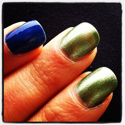 Still in line with the #Canucks colors #nails  (Taken with instagram)