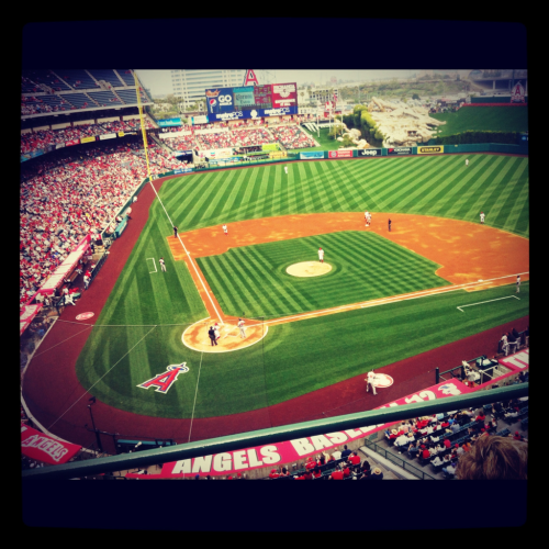 First game of the season!! Angels vs. Orioles. Let's go Halos!!!