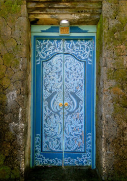 Lovely Balinese handicrafted door