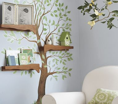 clarissapirate:  http://www.apartmenttherapy.com/branch-shelves-in-the-nursery-75802
