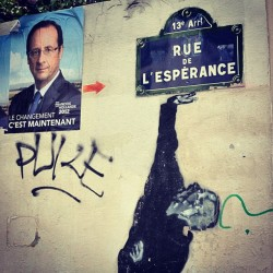 a city can be truly tested by its political graffiti ;)