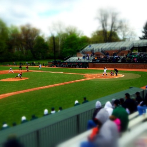 At the ballpark #iphone #snapseed #645pro #tiltshift #msu #baseball (Taken with Instagram at McLane Stadium)