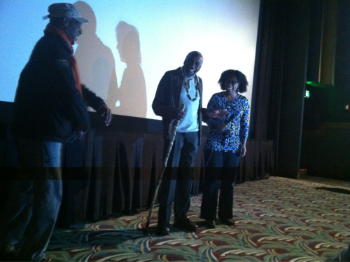"Actor Bill Cobbs speaks at the screening of his film ""Happy Sad"" at the Greater Cleveland Urban Film Festival. Cobbs discusses the misrepresentation of Blacks in the media ""This is an age when communications are working against us,"" he says. ""it's up to us to make sure that changes."""