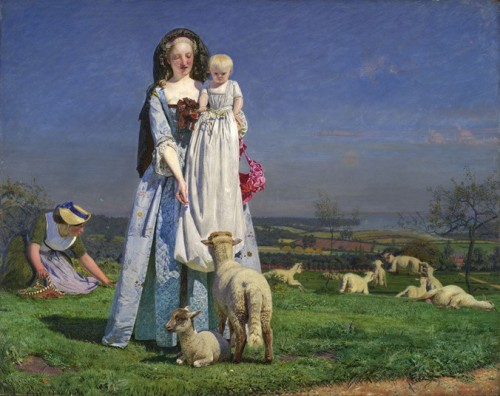 The Pretty Baa-Lambs painted by Ford Madox Brown Well, you certainly are the most wonderfully wooly baa lamb that ever stepped. — P. G. Wodehouse, The Code of the Woosters
