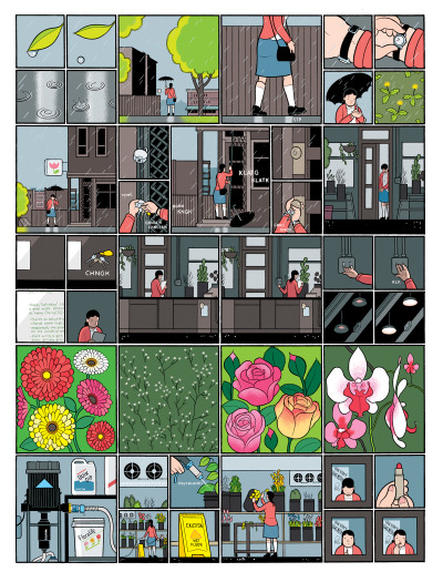 "Chris Ware on Building a Better Comic Book Found this article compelling. I don't completely agree with everything that's said but I'm sympathetic to all of it. Space is such a huge concern in all of Ware's comics, so it's nice to read an interview that actively provides a few layers of context (background, environment) in which to read the comics. Most of the ideas and facts covered are familiar but it's almost like the framework of the interview led me to appreciate the small details about interview itself. In turn, his life and work. Specific quotes. It felt humanizing in a way I hadn't.. considered before.  On his earlier work:  Experimental' comics,"" Chris admits. ""Well, basically: really pretentious, bad comics. I went through a whole period of doing comics that were about comics, which is something only an eighteen year old should do (or not at all if one can avoid it.) Then I finally starting drawing comics about real life, but without words, trying to tell stories only with pictures and to get in touch with the rhythm that pictures make in the mind when they're read (what I've tiresomely called for years the 'music' of comics—essentially the sounds one hears when reading that can't really be put into words, and seem to harness some odd, primal energy of emotion and action.)  On Gasoline Alley:  ""There was a warmth and an unabashed unpretentiousness to it;"" Ware reflects. ""It was about family life, which really struck me as sort of gutsy and honest, because he wasn't simply going for stupid gags or mean-spirited humor; he was really trying to get at something more tender and touching. His work made me feel as if it was 'okay' to take this approach, as well—and it had been what I'd been trying to do, but I'd been setting up all sorts of self-conscious art school obstacles in front of myself in the process. I just really wanted to put my deepest feelings on paper, and he helped me to start trying."""