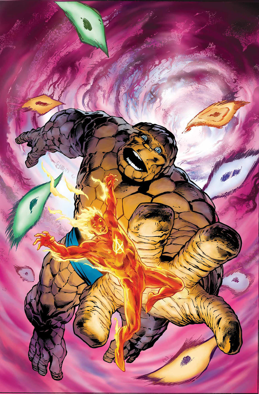 Marvel comics for July 2012: this is the cover for Fantastic Four Annual #33, drawn by Alan Davis. This is of particular interest to me because Davis is writing and drawing this book, and it will see the return of the ClanDestine, characters from one of my favourite comic books.