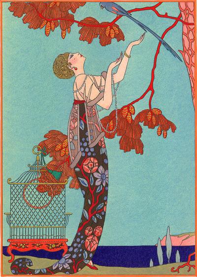 cavetocanvas:  George Barbier,L'Oiseau Volage, 1914