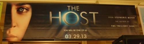 soultoheart:  The Host banner at CinemaCon 2012 (via Collider via The Host Movie Fans)