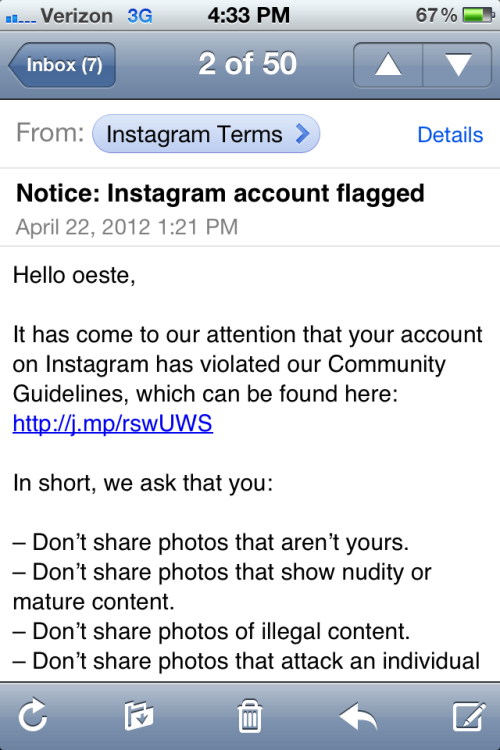 ANGRY i have violated nothing the only illegal activity i've shared on instagram is trespassing