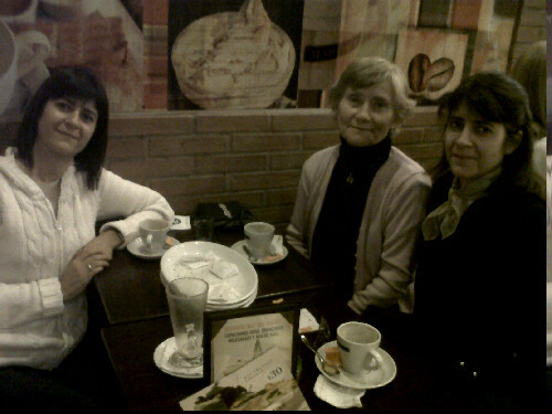 With my auntie, nanny and mom :)