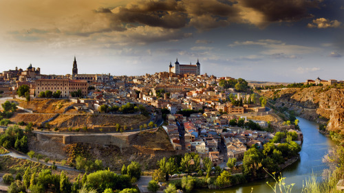 """Toledo"" by Pilar Azaña Toledo is known as the ""city of three cultures"", having been inhabited for centuries by Christians, Jews and Arabs as well as ""The Imperial City"" because it was the headquarters of the court of Charles I of Spain in the Spanish kingdoms."