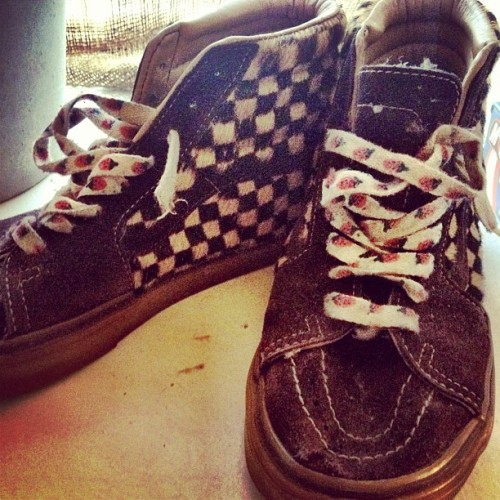 I love these beat up old #Vans #beaters #springcleaning  (Taken with instagram)