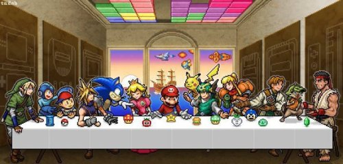 Last Supper Video Game Style
