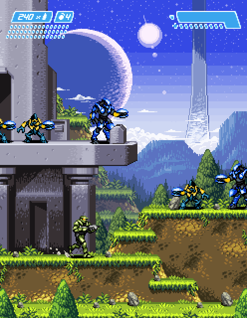 gamescrunch:  Halo: Pixel art. By: Jnkboy.