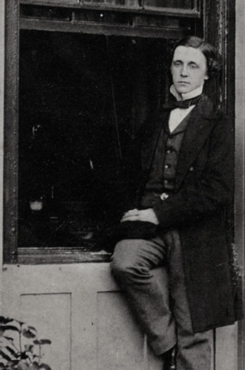 almadl:  Photographic portrait of Lewis Carroll, c. 1856-60 #aliceinwonderland