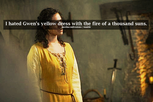 I hated Gwen's yellow dress with the fire of a thousand suns