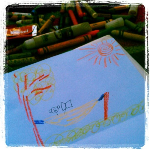 Art lessons with kids! =) (Taken with instagram)