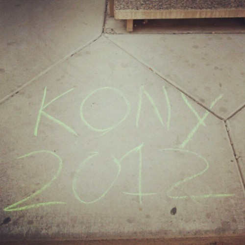 Really enjoyed seeing this all over my apartment complex (:  #kony (Taken with instagram)