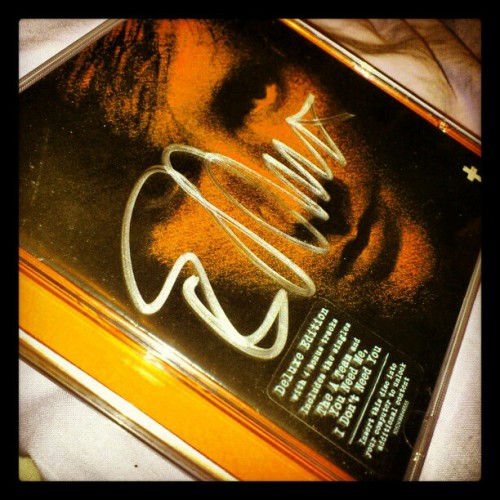 My signed ed sheeran cd :) (Taken with instagram)