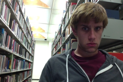 The struggles are real: studying in the middle of an aisle at Strozier because every table is taken.