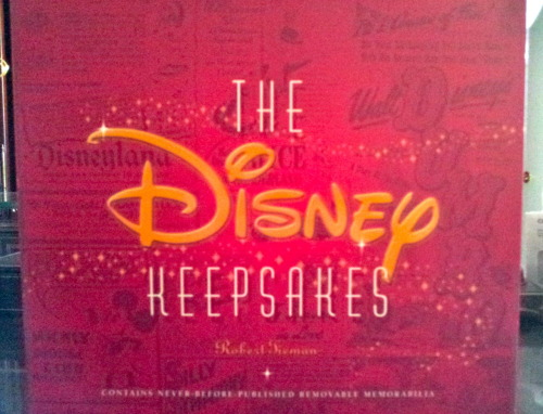 The Disney Keepsakes  Ive had this book for years and I never really appreciated it, decided to open it up today and its actually pretty amazing. A lot of reproductions of Walt's on writings and designs.