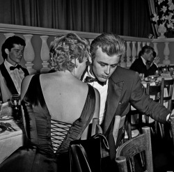 Mr James Dean and Ms Ursula Andress, 1955.