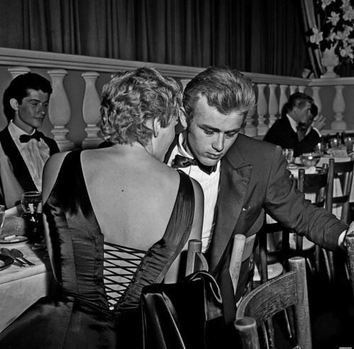mrporter:  Mr James Dean and Ms Ursula Andress, 1955.  He died way too young…..