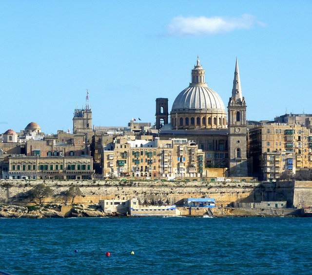 | ♕ |  Valletta - ancient port city of Malta  | by © Federica  via ysvoice : dreamsandnightscapes