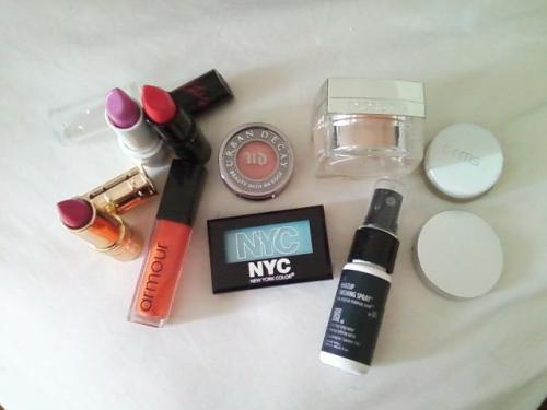 Just some of the make-up I'm packing for L.A. :) I have bright things planned!