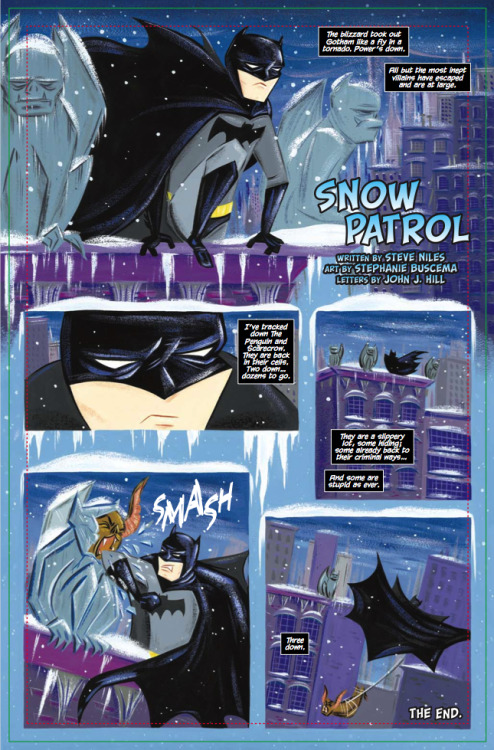 arcaneimages:  One-page Batman story I did with Stephanie Buscema. She's the coolest.