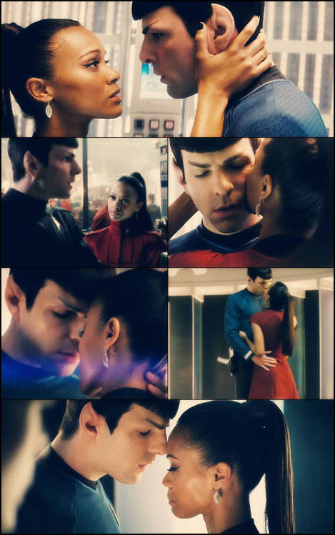 Spock and Nyota by ~SpockHorror This is one of my faves that I've saved on deviantart. If you also like this picture, be sure to fave it on deviantart.com and let the artist know.