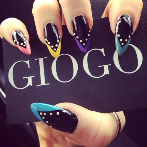 giogo:  Nails done by @HellsGibson at @wahnails (right hand) (Taken with instagram)  LOVE!