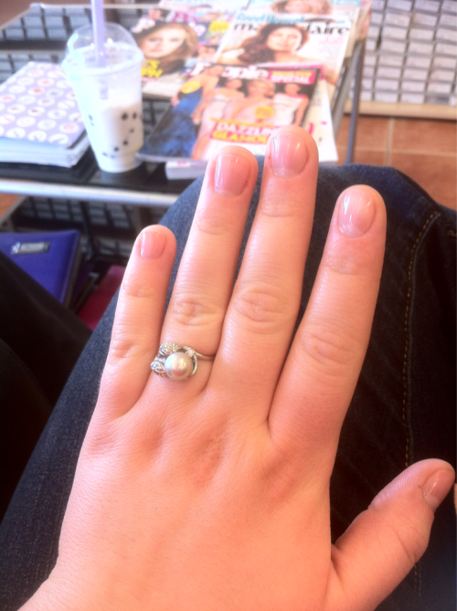 Pre-wedding nails :)