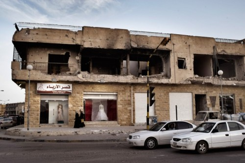 simply-war:  A storefront along Tripoli Street in Misrata, Libya. Photography by; Yuri Kozyrev.