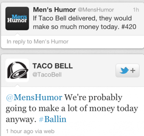 oh my god, i love you so much taco bell