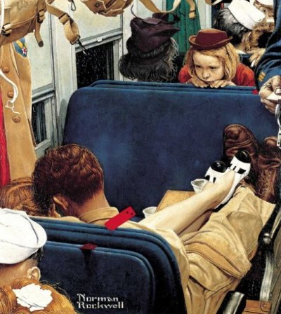 suicideblonde:  Travel Experience (1944) by Norman Rockwell